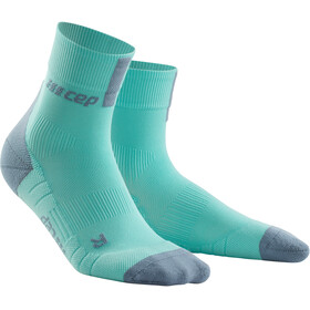 cep Short Socks 3.0 - Calcetines Running Mujer - gris/Turquesa